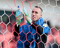 Fleetwood Town's Alex Cairns applauds the fans at the final whistle <br /> <br /> Photographer David Shipman/CameraSport<br /> <br /> The EFL Sky Bet League One - Doncaster Rovers v Fleetwood Town - Saturday 6th October 2018 - Keepmoat Stadium - Doncaster<br /> <br /> World Copyright © 2018 CameraSport. All rights reserved. 43 Linden Ave. Countesthorpe. Leicester. England. LE8 5PG - Tel: +44 (0) 116 277 4147 - admin@camerasport.com - www.camerasport.com