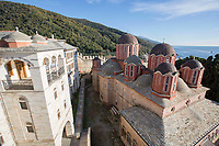 Mount Athos - The Holy Mountain.<br /> Xenophontos Monastery.<br /> <br /> Photographer: Rick Findler