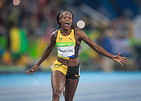 Jamaica Elaine Thompson wins the womans 100m in Rio2016. <br /> Rio de Janeiro, Brazil on August 13, 2016<br /> CAP/CAM<br /> &copy;Andre Camara/Capital Pictures /MediaPunch ***NORTH AND SOUTH AMERICAS ONLY***