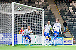 Stockholm 2015-03-05 Fotboll Svenska Cupen Djurg&aring;rdens IF - IFK Norrk&ouml;ping :  <br /> Norrk&ouml;pings Christopher Telo , Andreas Johansson och Emir Kujovic ser p&aring; n&auml;r Djurg&aring;rdens Jesper Karlstr&ouml;m g&ouml;r 1-0 under matchen mellan Djurg&aring;rdens IF och IFK Norrk&ouml;ping <br /> (Foto: Kenta J&ouml;nsson) Nyckelord:  Djurg&aring;rden DIF Tele2 Arena Svenska Cupen Cup IFK Norrk&ouml;ping Peking jubel gl&auml;dje lycka glad happy depp besviken besvikelse sorg ledsen deppig nedst&auml;md uppgiven sad disappointment disappointed dejected remote remotekamera
