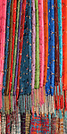 Silk scarves for sale at a shop in Bach Dang St, Hoi An, Viet Nam