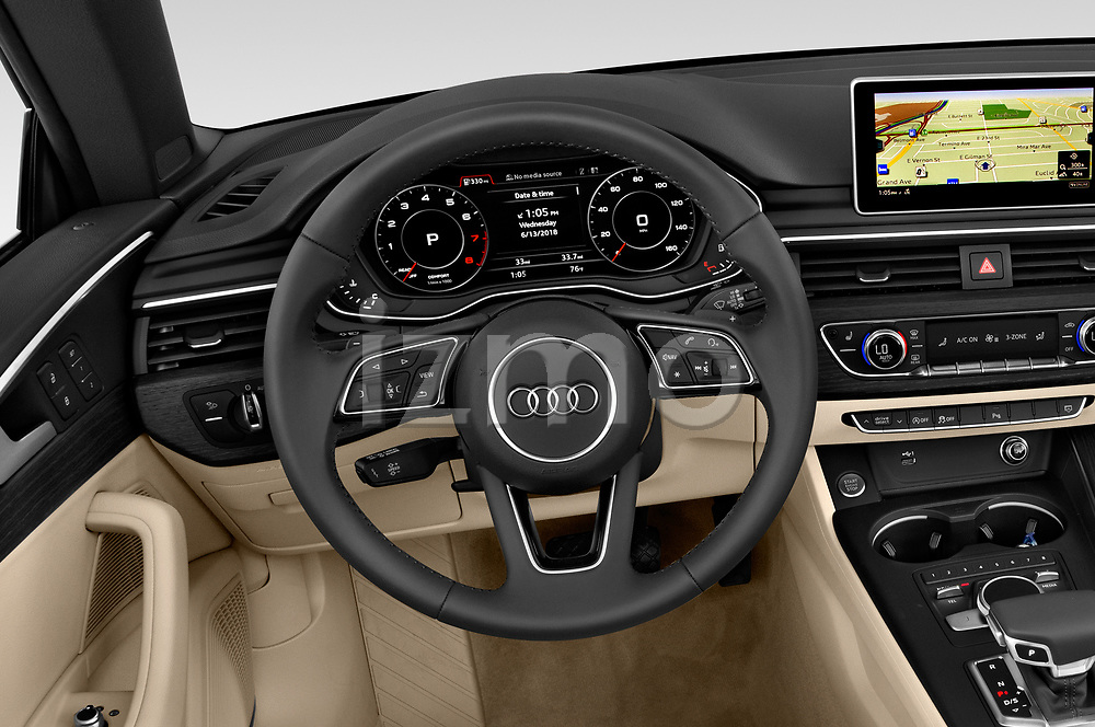 Car pictures of steering wheel view of a 2019 Audi A5-Cabriolet Premium-Plus 2 Door Convertible Steering Wheel