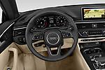 Car pictures of steering wheel view of a 2019 Audi A5-Cabriolet Premium-Plus 2 Door Convertible Steering Wheel