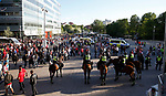 Mounted Police on show as fans start to arrive during the UEFA Europa League Final match at the Friends Arena, Stockholm. Picture date: May 24th, 2017.Picture credit should read: Matt McNulty/Sportimage