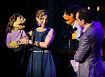 Maggie lakis and Rob McClure during the 'Avenue Q' 15th Anniversary Reunion Concert at Feinstein's/54 Below on July 30, 2018 in New York City.
