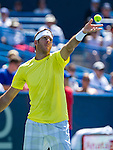 Juan Martin del Potro (ARG) defeats John Isner (USA) 3-6, 6-1, 6-2 winning his third title at the Citi Open in Washington, DC on August 4, 2013.