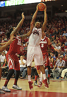 NWA Democrat-Gazette/Michael Woods --01/06/2015--w@NWAMICHAELW... University of Arkansas Razorbacks vs the Alabama Crimson Tide during the Razorbacks 93-91 overtime victory during Thursday nights game at Bud Walton Arena in Fayetteville.