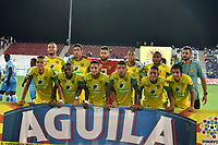 MONTERIA - COLOMBIA, 19-03-2016: Jugadores de Leones posan para una foto previo al partido entre Jaguares de Córdoba y Leones F.C. por la fecha 3 de la Liga Águila II 2018 jugado en el estadio Municipal de Montería. / Players of Leones pose to a photo prior the match between Jaguares of Cordoba and Leones F.C. for the date 3 of the Liga Aguila II 2018 at the Municipal de Monteria Stadium in Monteria city. Photo: VizzorImage / Andres Felipe Lopez / Cont