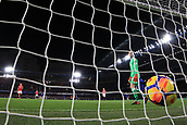 5th November 2017, Stamford Bridge, London, England; EPL Premier League football, Chelsea versus Manchester United; David De Gea of Manchester Utd looks at the ball in the net as Alvaro Morata of Chelsea scores making it 1-0