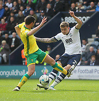 Preston North End's Jordan Hugill gets a shot on goal<br /> <br /> Photographer Mick Walker/CameraSport<br /> <br /> The EFL Sky Bet Championship - Preston North End v Norwich City - Monday 17th April 2017 - Deepdale - Preston<br /> <br /> World Copyright &copy; 2017 CameraSport. All rights reserved. 43 Linden Ave. Countesthorpe. Leicester. England. LE8 5PG - Tel: +44 (0) 116 277 4147 - admin@camerasport.com - www.camerasport.com