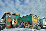 Colourful shack in the Woodyard area of Old Town