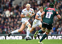 Jonny Hill of Exeter Chiefs in possession. Aviva Premiership match, between Leicester Tigers and Exeter Chiefs on September 30, 2017 at Welford Road in Leicester, England. Photo by: Patrick Khachfe / JMP