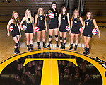 August 17, 2016- Tuscola, IL- The 2016 Tuscola Warrior Volleyball Seniors. From left are Kara O'Hearn, Caylen Moyer, Abbey Walsh, Maddie Allen, Kaiya Clodfelder, Ashley Bartley, and Rachel Mannen. [Photo: Douglas Cottle]