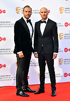 Matt Goss and Luke Goss<br /> at Virgin Media British Academy Television Awards 2019 annual awards ceremony to celebrate the best of British TV, at Royal Festival Hall, London, England on May 12, 2019.<br /> CAP/JOR<br /> ©JOR/Capital Pictures