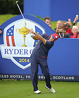 23 Sept 14 American Phil Mickelson during the Tuesday Practice Round at The Ryder Cup at The Gleneagles Hotel in Perthshire, Scotland. (photo credit : kenneth e. dennis/kendennisphoto.com)