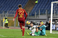 Nicolo Zaniolo of AS Roma scores third goal for his sie during the Serie A 2018/2019 football match between AS Roma and Sassuolo at stadio Olimpico, Roma, December, 26, 2018 <br />  Foto Andrea Staccioli / Insidefoto