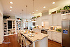 Photograph of the Kitchen of Blue River Cottage by Stephen Alexander Homes & Neighborhoods at Homearama 2010.