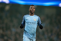 Kelechi Iheanacho of Manchester City celebrates scoring the equalising goal 1 1 during the UEFA Champions League GROUP match between Manchester City and Celtic at the Etihad Stadium, Manchester, England on 6 December 2016. Photo by Andy Rowland.