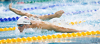 09 AUG 2008 - BEIJING, CHN - Michael Phelps (USA) - Men's 400m Individual Medley qualifier -  Beijing Olympics. (PHOTO (C) NIGEL FARROW) *** IOC RULES APPLY ON USAGE ***