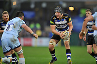 Charlie Ewels of Bath Rugby in possession. Aviva Premiership match, between Bath Rugby and Worcester Warriors on December 27, 2015 at the Recreation Ground in Bath, England. Photo by: Patrick Khachfe / Onside Images
