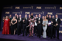 LOS ANGELES - SEPTEMBER 22:  Cast and crew of 'RuPaul's Drag Race' with the award for Outstanding Competition Program at the 71st Primetime Emmy Awards at the Microsoft Theatre on September 22, 2019 in Los Angeles, California. (Photo by Xavier Collin/Fox/PictureGroup)
