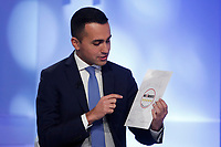 Luigi Di Maio<br /> Roma 19/01/2018. Trasmissione tv La7 'L'aria che tira'.<br /> Rome January 19th 2018. Candidate Premier for the Movement 5 Stars at the next elections Luigi di Maio appears as a guest on the talk show ''L'aria che tira' in Rome<br /> Foto Samantha Zucchi Insidefoto
