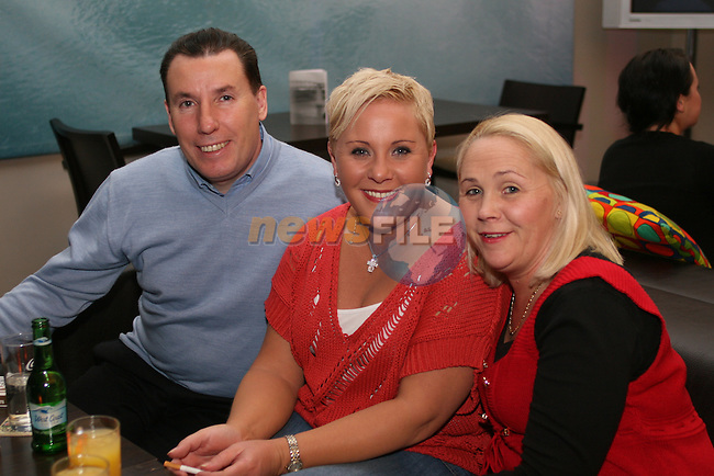 Harry Buckley, Ailish Macken and Angela Buckley in the D Hotel...Photo NEWSFILE/Jenny Matthews.(Photo credit should read Jenny Matthews/NEWSFILE)....This Picture has been sent you under the condtions enclosed by:.Newsfile Ltd..The Studio,.Millmount Abbey,.Drogheda,.Co Meath..Ireland..Tel: +353(0)41-9871240.Fax: +353(0)41-9871260.GSM: +353(0)86-2500958.email: pictures@newsfile.ie.www.newsfile.ie.FTP: 193.120.102.198.