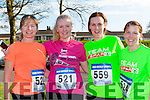 Kay O'Connor, susan O'Donoghue, Catriona Murphy and Ciara Fleming on the run at the Fossa NS 10k road race on Friday evening