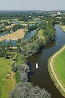 Bateau sur la Vilaine entre Bruz et Goven