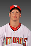 14 March 2008: ..Portrait of PJ Dean, Washington Nationals Minor League player at Spring Training Camp 2008..Mandatory Photo Credit: Ed Wolfstein Photo