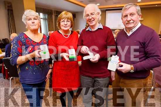Maura Killackey, Carmel Murphy, Gordon Lessells and Tom Hardiman attending the Bridge Congress in the Rose Hotel on Sunday.