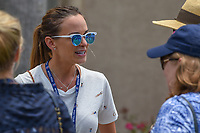 Brooks Koepka's (USA) girlfriend Jena Sims chats with friends following round 4 of The Players Championship, TPC Sawgrass, at Ponte Vedra, Florida, USA. 5/13/2018.<br /> Picture: Golffile | Ken Murray<br /> <br /> <br /> All photo usage must carry mandatory copyright credit (&copy; Golffile | Ken Murray)