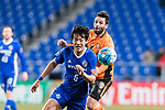 Ulsan Hyundai Midfielder Jeong Jae Yong (L) fights for the ball with Brisbane Roar Forward Manuel Arana Rodriguez (R) during the AFC Champions League 2017 Group E match between Ulsan Hyundai FC (KOR) vs Brisbane Roar (AUS) at the Ulsan Munsu Football Stadium on 28 February 2017 in Ulsan, South Korea. Photo by Victor Fraile / Power Sport Images