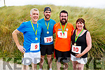 The Treanor family from Abbeydorney after crossing the finish line at the Banna 5 and 10k race on Sunday morning. L-r, Gerry, Chris, James and Jackie Treanor.