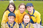 Aoife Buckley, Katie Talbot, Katie O'Reilly, Molly O'Mahony and Clodagh O'Connor all Killarney at the South West Girl Guides annual fun day in Killarney Community college on Saturday   Copyright Kerry's Eye 2008