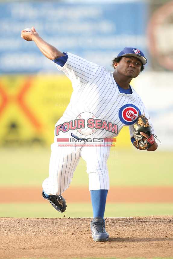 August 15, 2008: Marcos Mateo (30) of the Daytona Cubs at Jackie Robinson Ballpark in Daytona, FL. Photo by: Chris Proctor/Four Seam Images