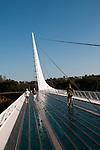 Sundial Bridge across Sacramento River in Redding in Northern California.Photo copyright Lee Foster.  Photo # california-sundial-bridge-cashas104909
