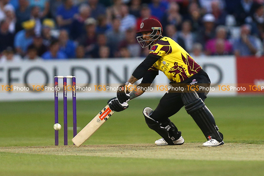 Peter Trego in batting action for Somerset during Essex Eagles vs Somerset, NatWest T20 Blast Cricket at The Cloudfm County Ground on 13th July 2017