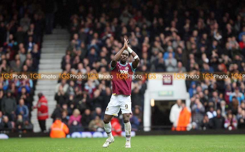 Carlton Cole of West Ham applauds the fans - West Ham United vs Hull City, npower Championship at Upton Park, West Ham - 28/04/12 - MANDATORY CREDIT: Rob Newell/TGSPHOTO - Self billing applies where appropriate - 0845 094 6026 - contact@tgsphoto.co.uk - NO UNPAID USE..