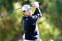 Hideki Matsuyama (JPN) on the 5th tee during the 2nd round of the Waste Management Phoenix Open, TPC Scottsdale, Scottsdale, Arisona, USA. 01/02/2019.<br /> Picture Fran Caffrey / Golffile.ie<br /> <br /> All photo usage must carry mandatory copyright credit (© Golffile | Fran Caffrey)