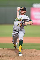 Mesa Solar Sox pitcher Ryan Doolittle (70) during an Arizona Fall League game against the Peoria Javelinas on October 15, 2014 at Surprise Stadium in Surprise, Arizona.  Mesa defeated Peoria 5-2.  (Mike Janes/Four Seam Images)
