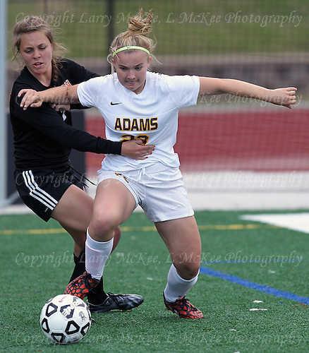 Rochester Adams vs Brighton, regional semifinal soccer action at Bloomfield Hills High School Tuesday, June 7, 2016. Photos: Larry McKee, L McKee Photography. PLEASE NOTE: ALL PHOTOS ARE CUSTOM CROPPED. THIS CAN CAUSE EXTRA WHITE SPACE AROUND BORDERS. BEFORE PURCHASING AN IMAGE, PLEASE CHOOSE PROPER PRINT FORMAT TO BEST FIT IMAGE DIMENSIONS.  L McKee Photography, Clarkston, Michigan. L McKee Photography, Specializing in Action Sports, Senior Portrait and Multi-Media Photography. Other L McKee Photography services include business profile, commercial, event, editorial, newspaper and magazine photography. Oakland Press Photographer. North Oakland Sports Chief Photographer. L McKee Photography, serving Oakland County, Genesee County, Livingston County and Wayne County, Michigan. L McKee Photography, specializing in high school varsity action sports and senior portrait photography.