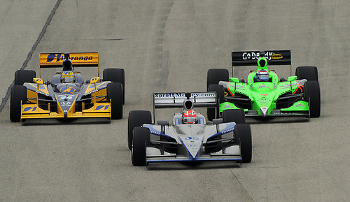 17-19 June 2011, West Allis, Wisconsin USA<br /> #06 James Hinchcliffe with Ana Beatriz and Danica Patrick.<br /> ©2011 Dan R. Boyd Lat Photo USA