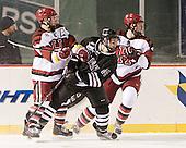 Daniel Moriarty (Harvard - 11), Shayne Gostisbehere (Union - 14), ? - The Union College Dutchmen defeated the Harvard University Crimson 2-0 on Friday, January 13, 2012, at Fenway Park in Boston, Massachusetts.