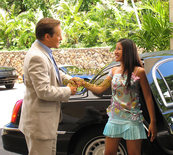 "JAMES REMAR & JASMINE TRIAS.in North Shore.""My Boyfriend's Back"".*Editorial Use Only*.www.capitalpictures.com.sales@capitalpictures.com.Supplied by Capital Pictures."