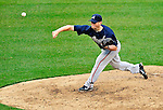 31 March 2011: Atlanta Braves pitcher Craig Kimbrel closes out the game with a save on Opening Day against the Washington Nationals at Nationals Park in Washington, District of Columbia. The Braves shut out the Nationals 2-0 to start off the 2011 Major League Baseball season. Mandatory Credit: Ed Wolfstein Photo