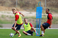 Getafe CF's Johannes Van den Bergh, Carlos Calderon and Francisco Molinero during training session. August 1,2017.(ALTERPHOTOS/Acero) /NortePhoto.com