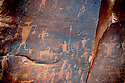NATIVE AMERICAN ROCK ART<br /> NEAR MOAB, UTAH