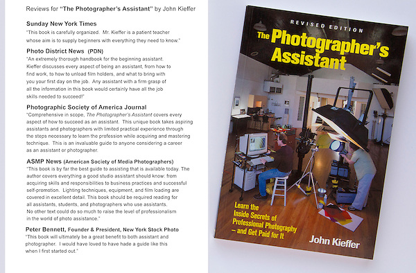 Book reviews. The Photographer's Assistant by John Kieffer.