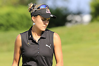 Lexi Thompson (USA) on the 5th green during Thursday's Round 1 of The Evian Championship 2018, held at the Evian Resort Golf Club, Evian-les-Bains, France. 13th September 2018.<br /> Picture: Eoin Clarke | Golffile<br /> <br /> <br /> All photos usage must carry mandatory copyright credit (© Golffile | Eoin Clarke)